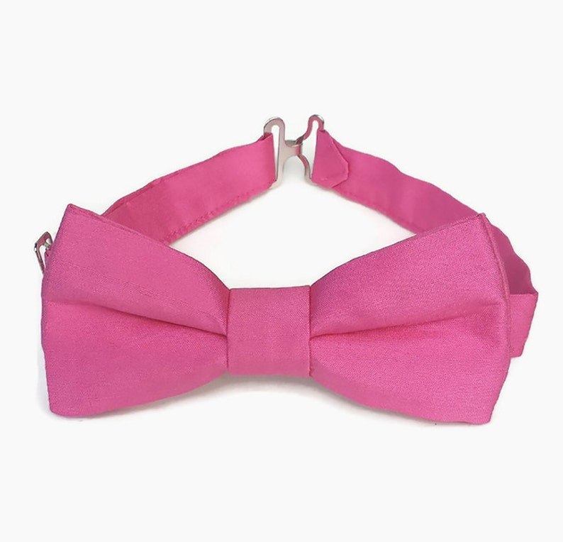 Pink silk bow tie for boys men's bow tie baby boy bow image 0