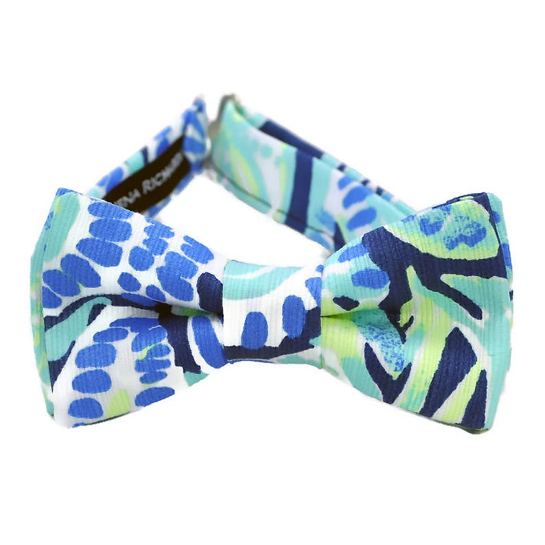 b20625184e2c Lilly Pulitzer bow ties in Sunset Swim fabric for | Etsy
