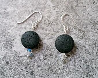 Essential Oil Diffuser Earrings, Lava Bead Earrings, Aromatherapy Earrings, Boho Earrings,  Lava Stone Earrings, Lava Healing Earrings, Gift