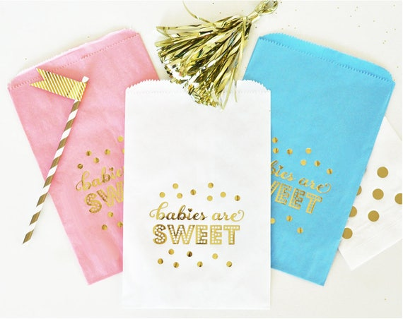 Babies Are Sweet Candy Buffet Bags Set Of 12 Baby Shower Etsy