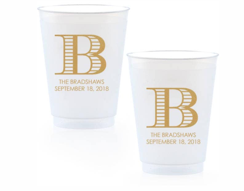 Personalized Wedding Cups Engagement Party Plastic Wine Cups Bar