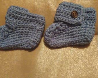 Crochet Blue Booties