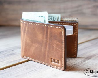 a970d86dca Mens Bifold Wallet, Leather Bifold Wallet, Monogrammed Bifold, Slim Bifold  Wallet, Personalized Wallet, Simple Bifold, Amazing gift