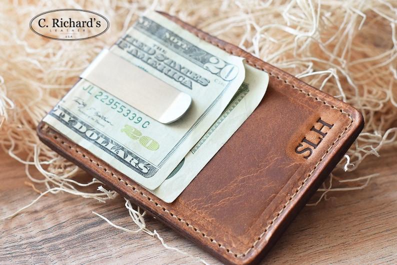 Leather Money Clip Wallet Money Clip wallet Money Clip  850d0078c601