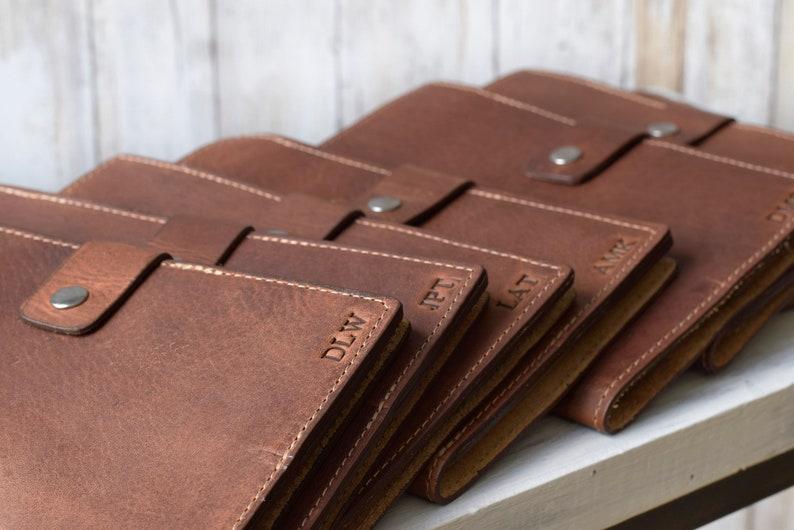 9f5bc0b37398 Personalized Leather Portfolio Employee Gift Leather