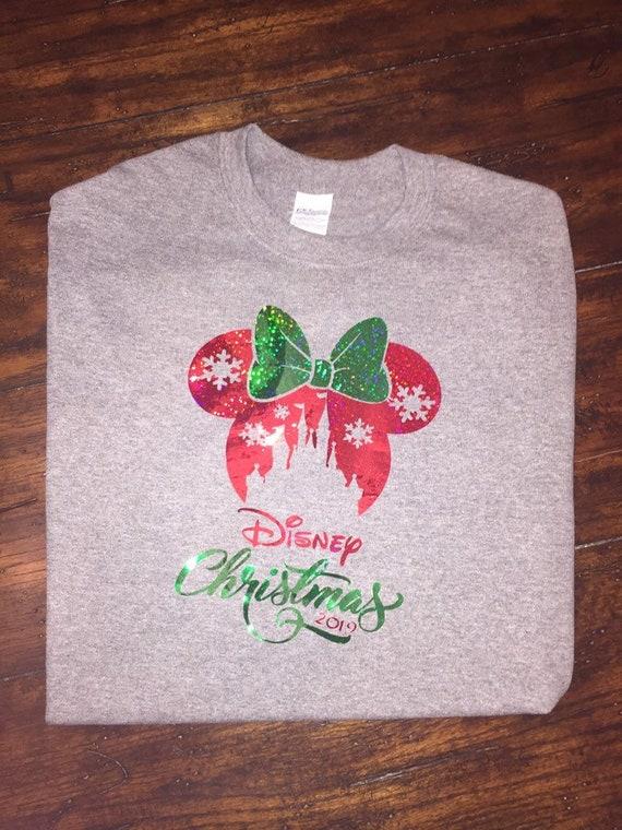 Disney Christmas Shirt Designs.A Disney Christmas Shirt For The Holidays Mickey Or Minnie Ears