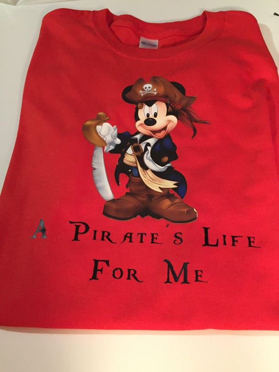 39b1a3577 Mickey Mouse Pirate Adult Youth or Toddler Shirt Pirate's | Etsy