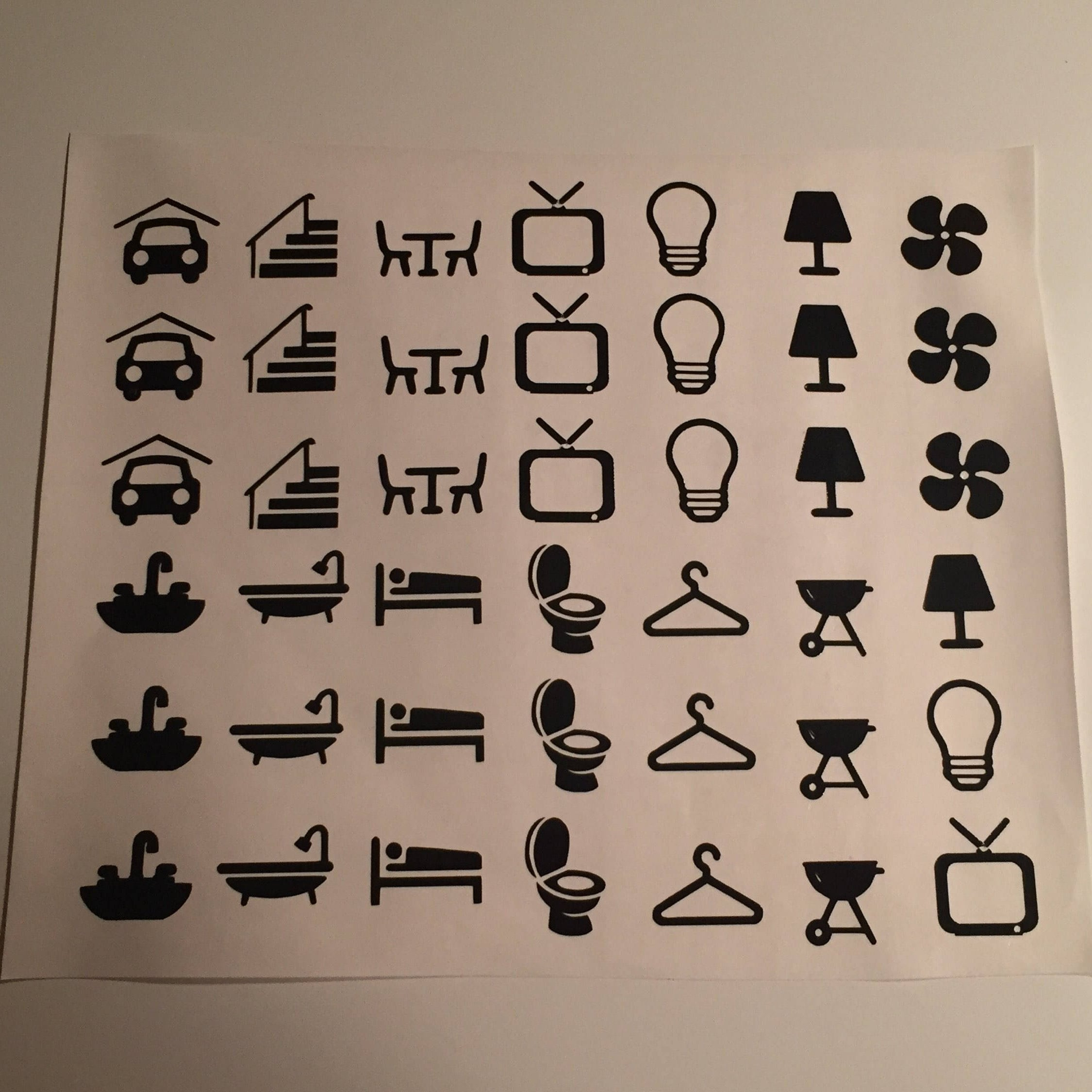 Light Switch Labels Sheet Of Decals For Your Home