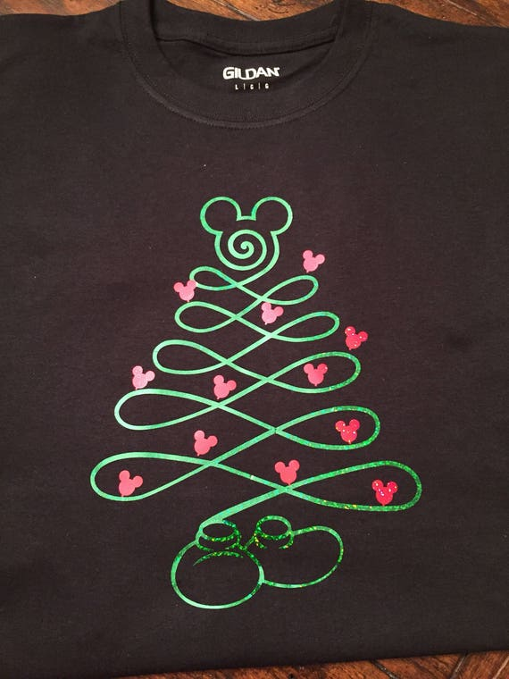 Mickey Mouse Christmas Tree.Mickey Mouse Christmas Tree Disney Inspired Shirt Adult Kids Toddler Sizes