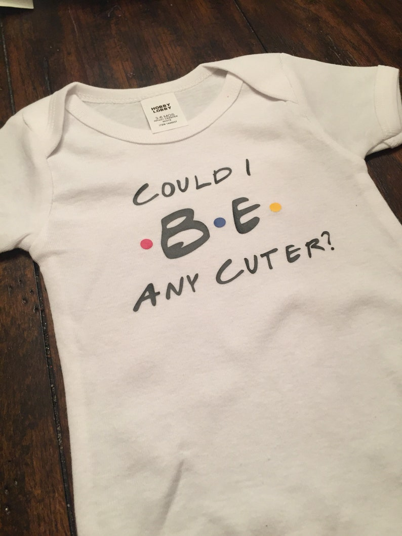 Friends 90/'s TV Sitcom Inspired 3 Pack Gift Set Baby Bodysuits