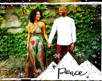 Photo Christmas Card - Digital File (Peace)