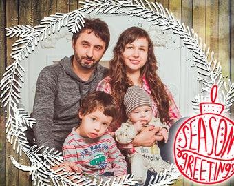 Photo Christmas Card - Digital File (Season Greetings)