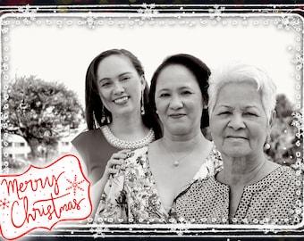 Photo Christmas Card - Digital File (Merry Christmas 2)