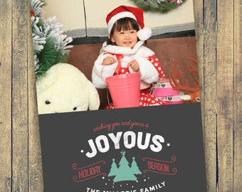 Photo Christmas Card - Digital File (Joyous)