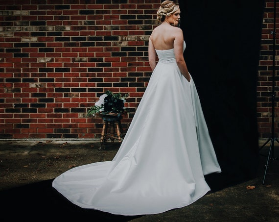Chestine- Velvet Bodice, Satin Ball Gown