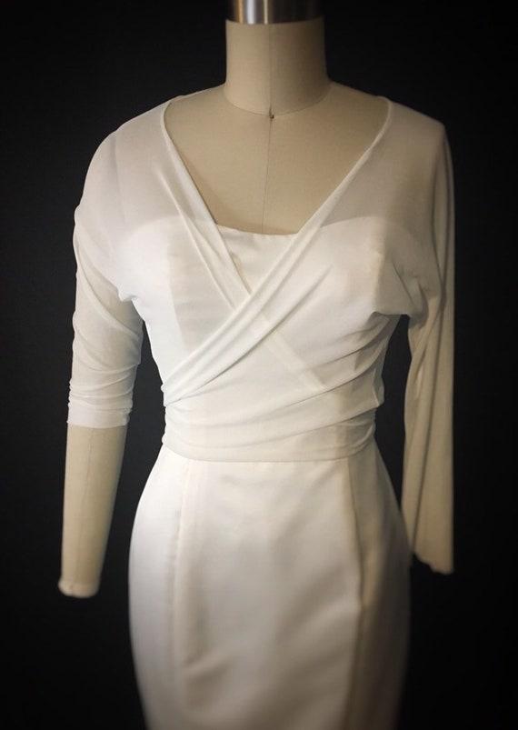Bridal topper, chiffon wrap, wedding dress shirt