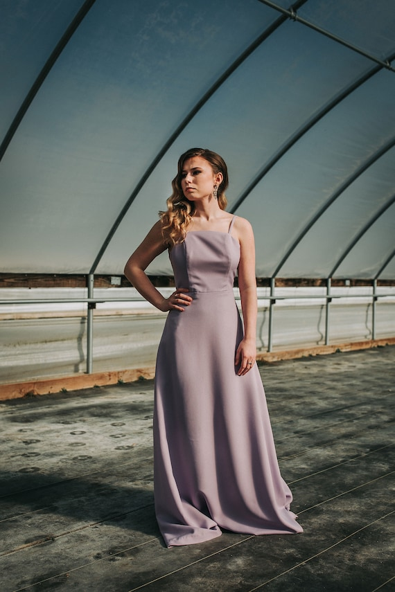 Simple Prom Dress, Bridesmaid, Spaghetti Strap, A-Line