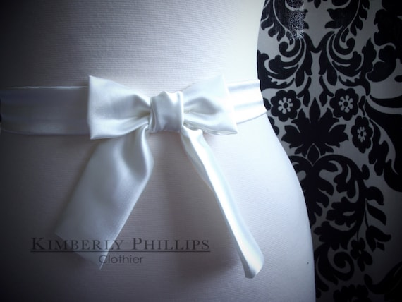Small Satin Bow Belt with Tails