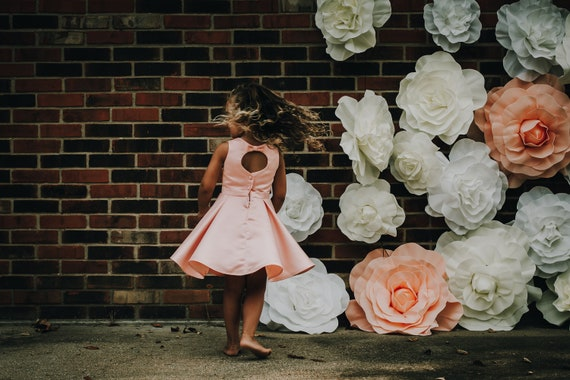 Satin Flower Girl Dress with Bow