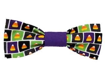 Candy Corn Craze dog bow and bowtie|Fall|Halloween|Sugar|Trick or Treat|Dog Costume|Gifts for dogs