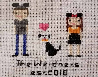 PupStitch EXTRAS - Additions to your custom cross stitch family portraits|Gifts for dog lovers|Unique custom keepsakes