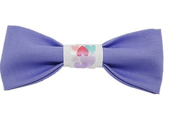 Lavender love dog bow|Gifts for dogs and dog lovers|Valentines Day|Amour|Rescue|Hearts|Best Friends