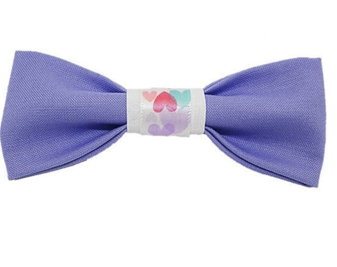 Featured listing image: Lavender love dog bow|Gifts for dogs and dog lovers|Valentines Day|Amour|Rescue|Hearts|Best Friends