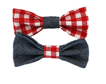 Red Plaid dog bow and bowtie|Dog wedding attire|Rustic|Country|Chic|Gifts for dogs and dog lovers