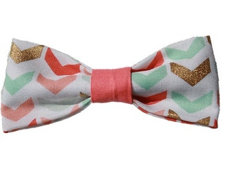Funky Chevron dog bow|Custom color coordination|Dog bowtie|Boho|Bohemian chic|Gifts for dogs