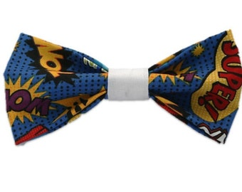 Pow! dog bow-tie|Comic book| Nerdy dorky|Dog accessories|Gifts for dogs and dog lovers