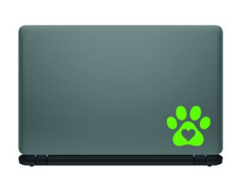 Love Paw Print vinyl decal|Car laptop travel mug personalization|Gifts for dog lovers|FREE SHIPPING!
