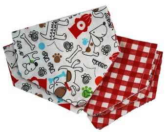 Yip Yap Plaid Reversible Dog Bandana|Rustic Country|Traditional|Gifts for dogs and dog lovers
