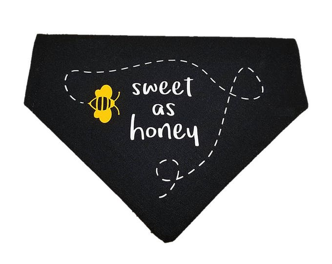 Featured listing image: Sweet as Honey bumblebee reversible dog bandana|Summer|Gifts for dogs