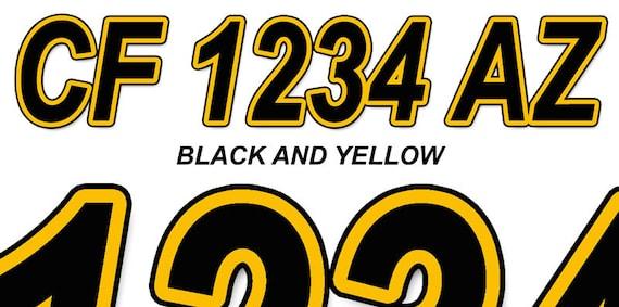 ORBITAL SILVER Custom Boat Registration Number Decals Vinyl Lettering Stickers
