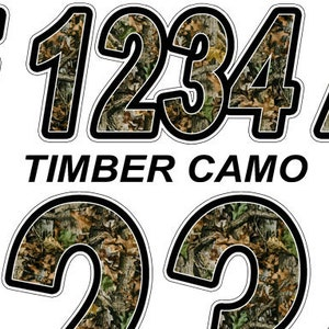 Blue Camo Custom Boat Registration Numbers Decals Vinyl Lettering Stickers