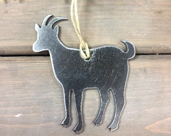 Goat Christmas Ornament, farmhouse Christmas Decor, Rustic Christmas, , farm animal ornaments