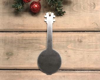 Banjo Christmas Ornament, Christmas Decor, Rustic Christmas, Farmhouse Christmas Decor, Banjo player