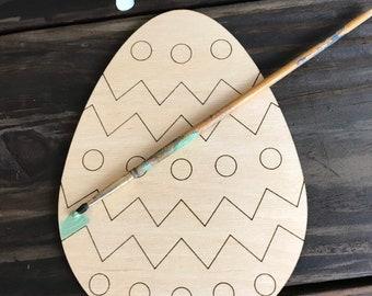 Wood Easter Egg Craft Blank- precut lines- Easter activities- kids Easter activities- homeschool Easter activity-Easter crafts