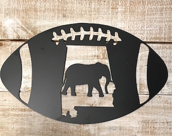 Alabama Football Door Hanger-Alabama Silhouette Metal Sign-football sign