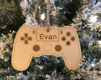 Christmas 2020 Ornament, video game ornament,  gaming ornament, gamer gift, PS4 ornament, video gamer gift