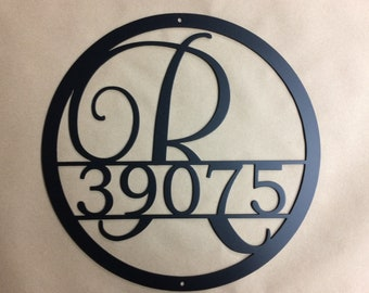 15 Inch Monogrammed Address Sign