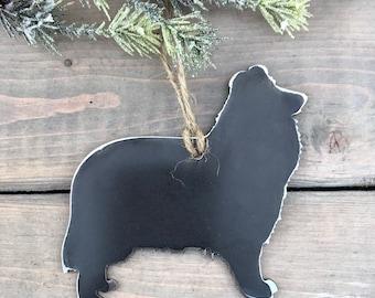 Collie Ornament,  Pet Lover, Metal Dog Christmas Ornament ,Pet Loss Dog Memorial, Pet Remembrance, Pet Lover Memorial Ornament