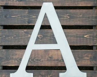 UNFINISHED 16 inch METAL LETTERS