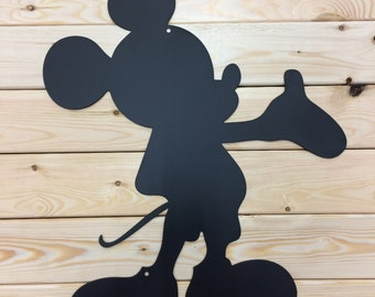 Mickey Mouse Silhouette Metal Wall Art