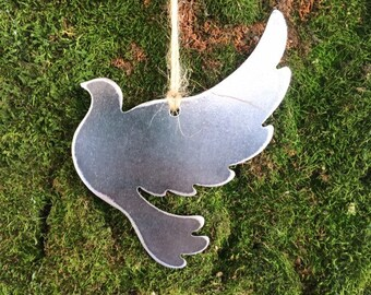 Peace Dove Christmas Ornament, Christmas Decor, Rustic Christmas, unique christmas gift, , metal ornaments