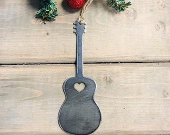 Guitar Christmas Ornament, Christmas Decor, Rustic Christmas, Farmhouse Christmas Decor, Guitar love
