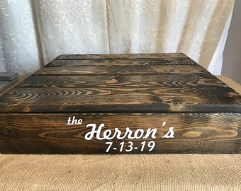 12x12 PERSONALIZED square wood cake stand, country cake stand,rustic cake stand, country wedding decor, square cake stand, rustic wedding de