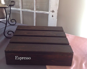 12x12 Square Wood Cake Stand