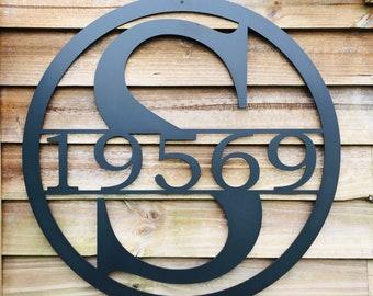 36 INCH  Circle Monogram Last Name Metal Sign-Metal Wall Art- 36 Inch Personalized Sign Monogram Metal Sign-Custom Metal Sign With Last Name