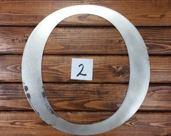 """Clearanced Raw Metal Letter O - 15 7/8"""""""